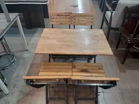 Bộ bàn ghế cafe cũ SP012898