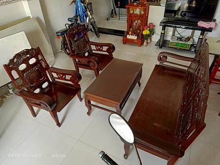 Bộ sofa gỗ cũ SP013098