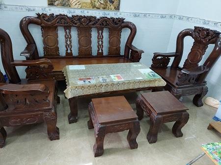 Bộ sofa gỗ Tràm cũ SP015735