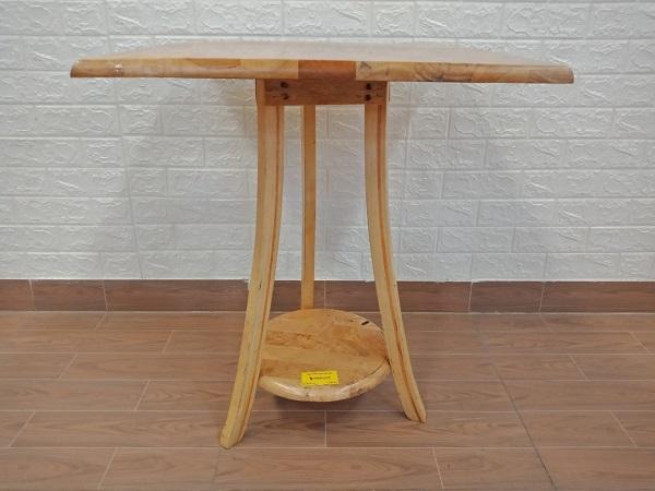 Bàn cafe gỗ cao su cũ SP008160.1