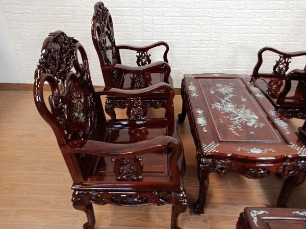 Bộ sofa gỗ Hương cũ SP008283.1