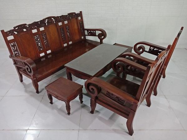 Bộ sofa gỗ Hương cũ SP008327