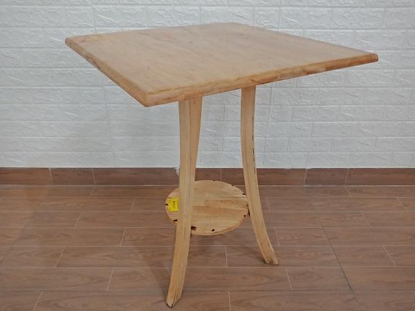 Bàn cafe gỗ cao su cũ SP008160