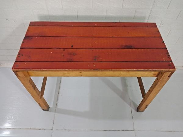 Bàn cafe gỗ cao su cũ SP008415