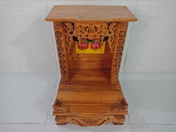 Bàn thờ ông địa gỗ Hương cũ SP008307
