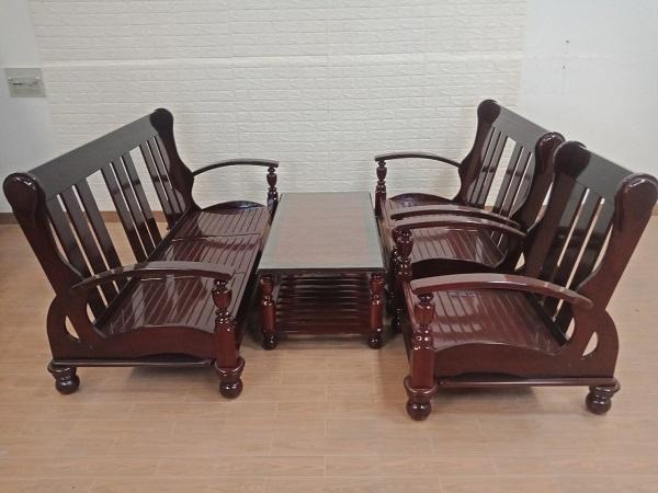 Bộ sofa gỗ Căm xe cũ SP008215