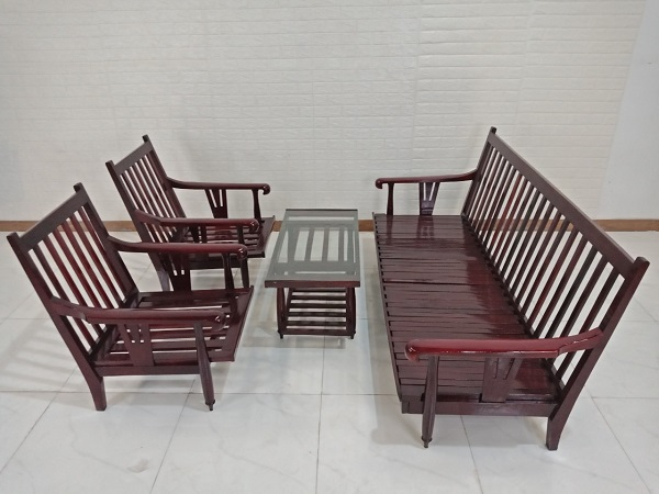 Bộ sofa gỗ Hương cũ SP008283