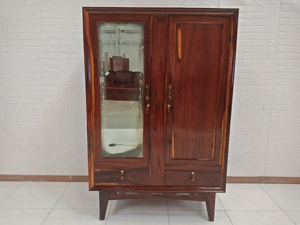 Tủ quần áo gỗ Gõ đỏ + Cẩm lai cũ SP008349