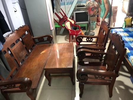 Bộ sofa gỗ cũ SP013320