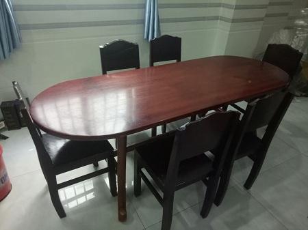 Bộ bàn ăn cũ SP013414