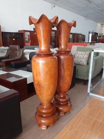 Cặp lục bình gỗ tự nhiên cũ SP015991