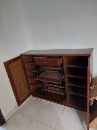 Tủ Giày gỗ cao su cũ SP016017