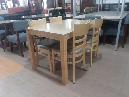 Bộ bàn ăn gỗ tự nhiên cũ SP016023