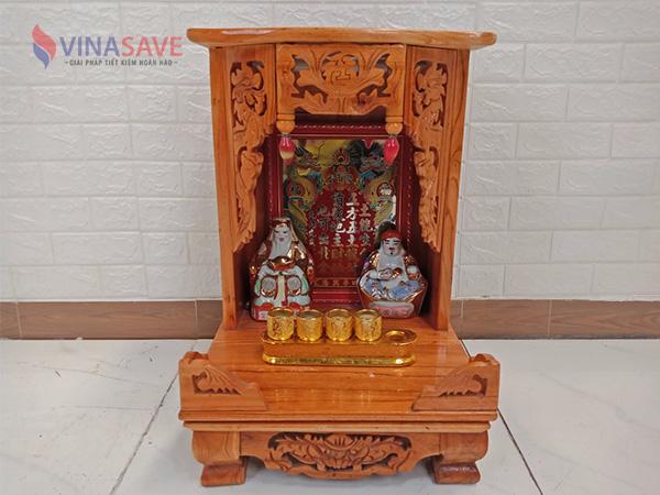 Bàn thờ ông địa gỗ thông cũ SP008927