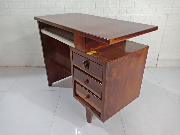 Bàn làm việc gỗ Gõ đỏ cũ SP008533