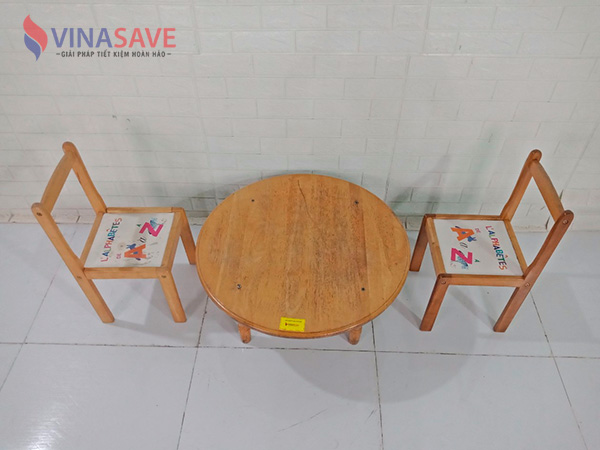 Bộ bàn ghế gỗ cũ SP009073