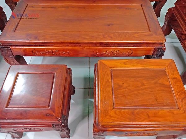 Bộ salon gỗ Hương, gỗ Trắc cũ SP009058