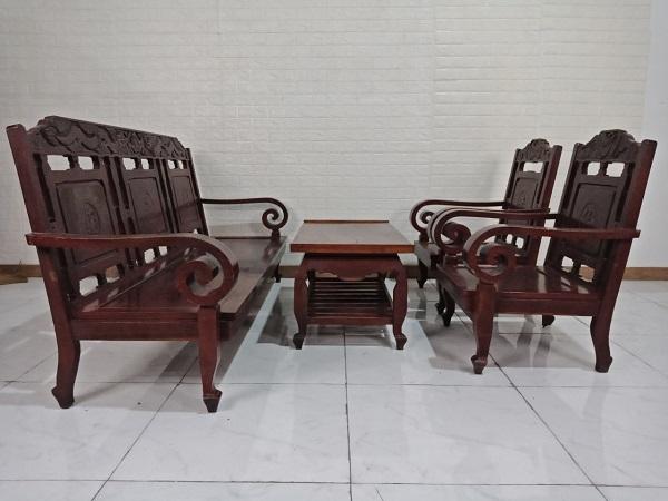 Bộ sofa gỗ Hương cũ SP008632