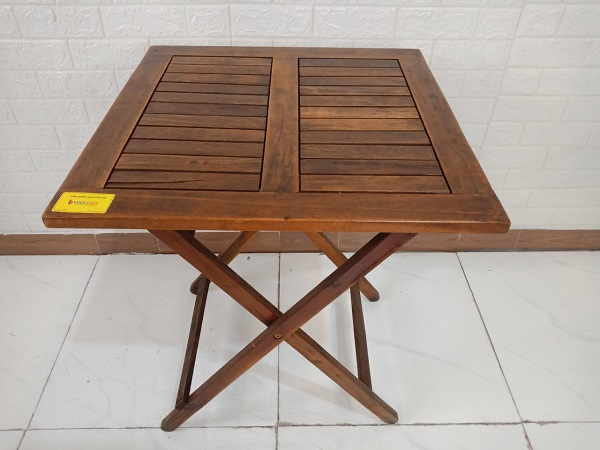 Bàn cafe gỗ cao su cũ SP008493