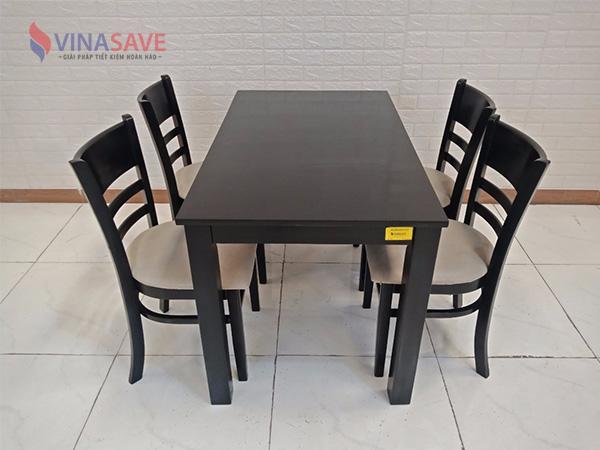 Bộ bàn ghế ăn gỗ cao su cũ SP008894