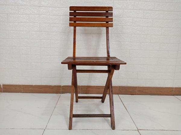 Ghế cafe gỗ cao su cũ SP008494