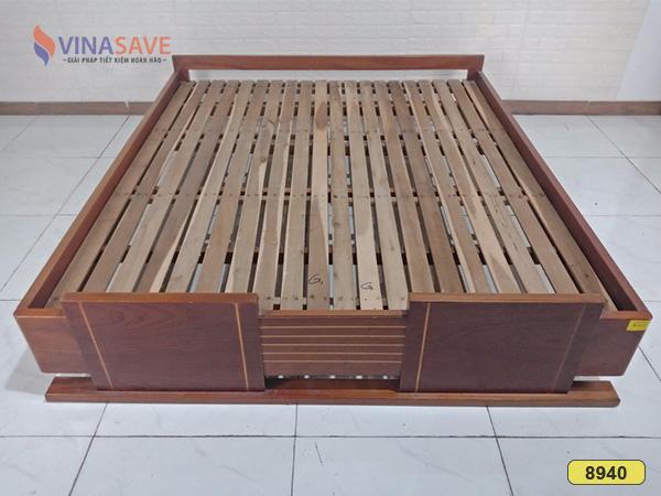 Giường ngủ gỗ xoan đào cũ SP008940
