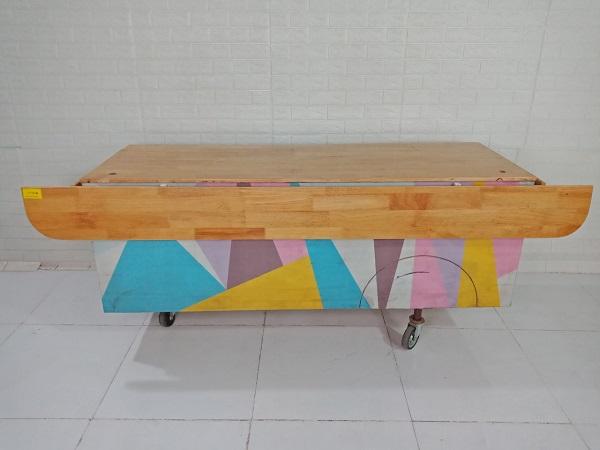 Quầy bán hàng gỗ cao su cũ SP009011