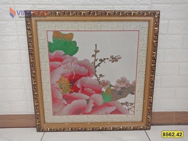 Tranh đính đá mẫu hoa cũ SP008562.42