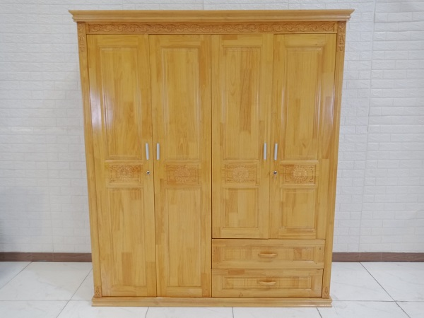 Tủ quần áo gỗ cao su cũ SP008714