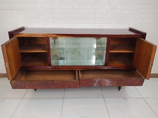 Tủ búp phê gỗ Cẩm lai + Nu cũ SP008608