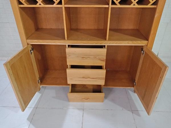 Tủ trưng bày gỗ Sồi cũ SP008891