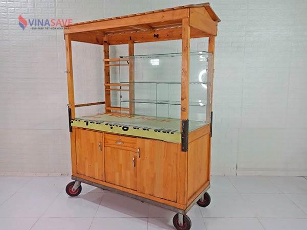 Xe bán hàng gỗ thông cũ SP009077