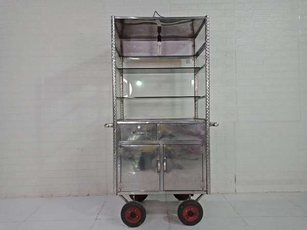 Xe bán hàng inox cũ SP009012