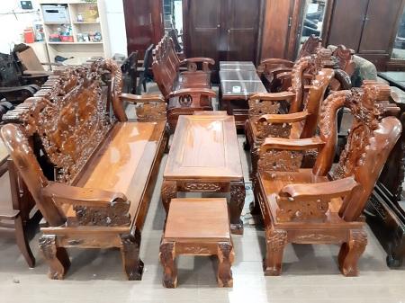 Bộ sofa gỗ cũ SP013500