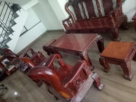 Bộ sofa gỗ gõ đỏ cũ SP013630
