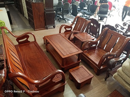Bộ sofa gỗ Hương cũ SP013679