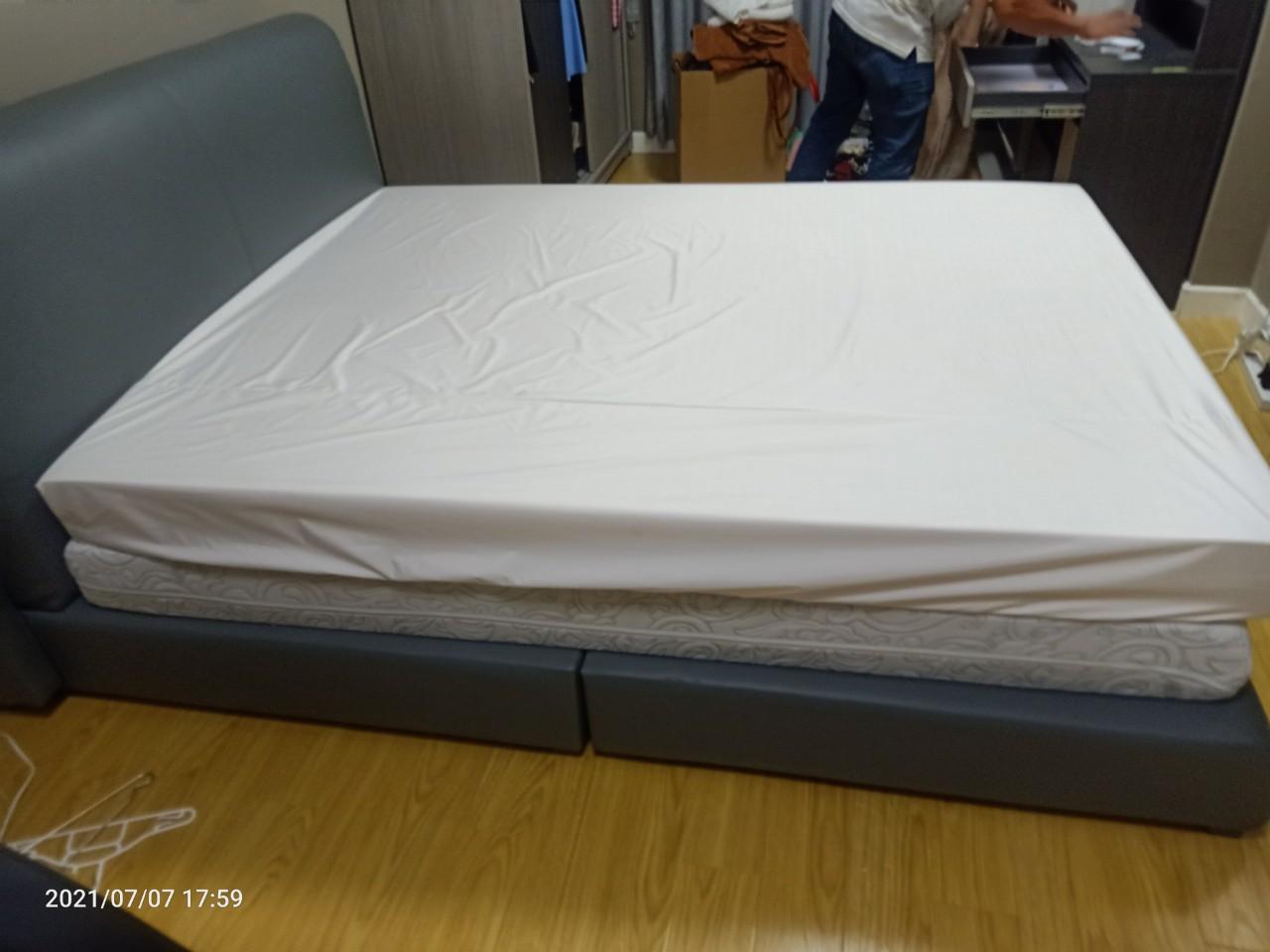 Giường  gỗ MDF cũ SP016085