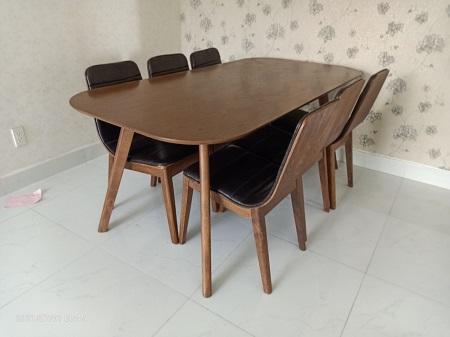 Bộ bàn ăn gỗ tự nhiên cũ SP016042