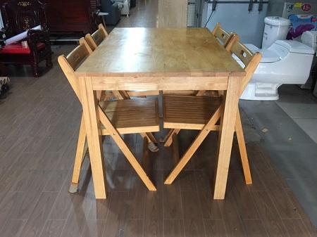 Bộ bàn ăn gỗ tự nhiên cũ SP016068