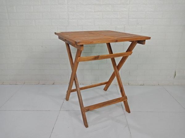 Bàn cafe gỗ cao su cũ SP009207