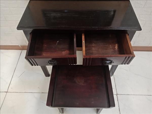 Bàn trang điểm gỗ cao su cũ SP009370