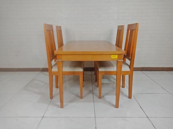 Bộ bàn ăn gỗ Sồi cũ SP009215