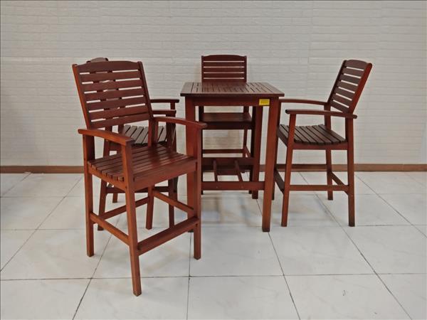 Bộ bàn bar gỗ Căm xe cũ SP009336