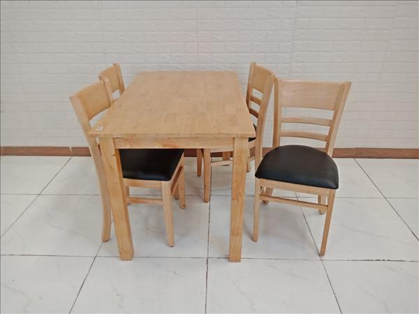 Bộ bàn ghế ăn gỗ cao su cũ SP008920