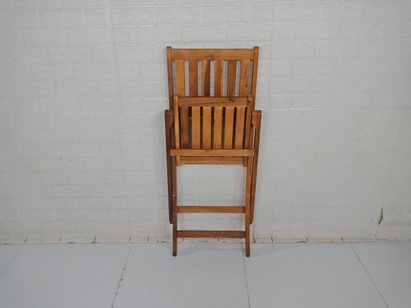 Ghế cafe gỗ cao su cũ SP009202