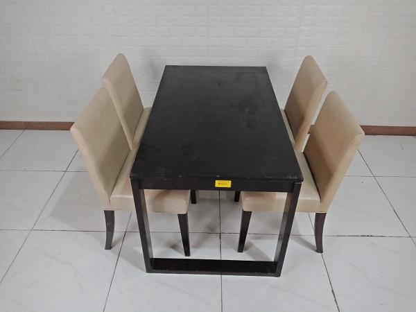 Bộ bàn ăn gỗ cao su cũ SP009224.1