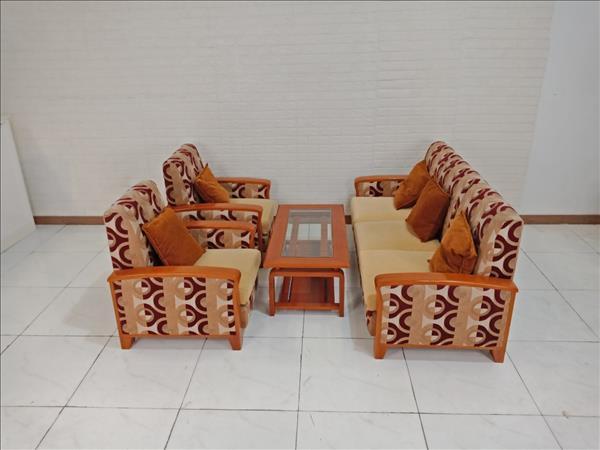 Bộ sofa gỗ Sồi cũ SP009507