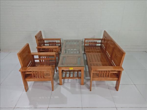 Bộ sofa gỗ Sồi Nga cũ SP009443