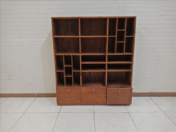Kệ trang trí gỗ cao su cũ SP009383