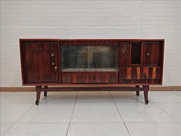 Tủ búp phê gỗ Cẩm lai + Gõ đỏ cũ SP009615